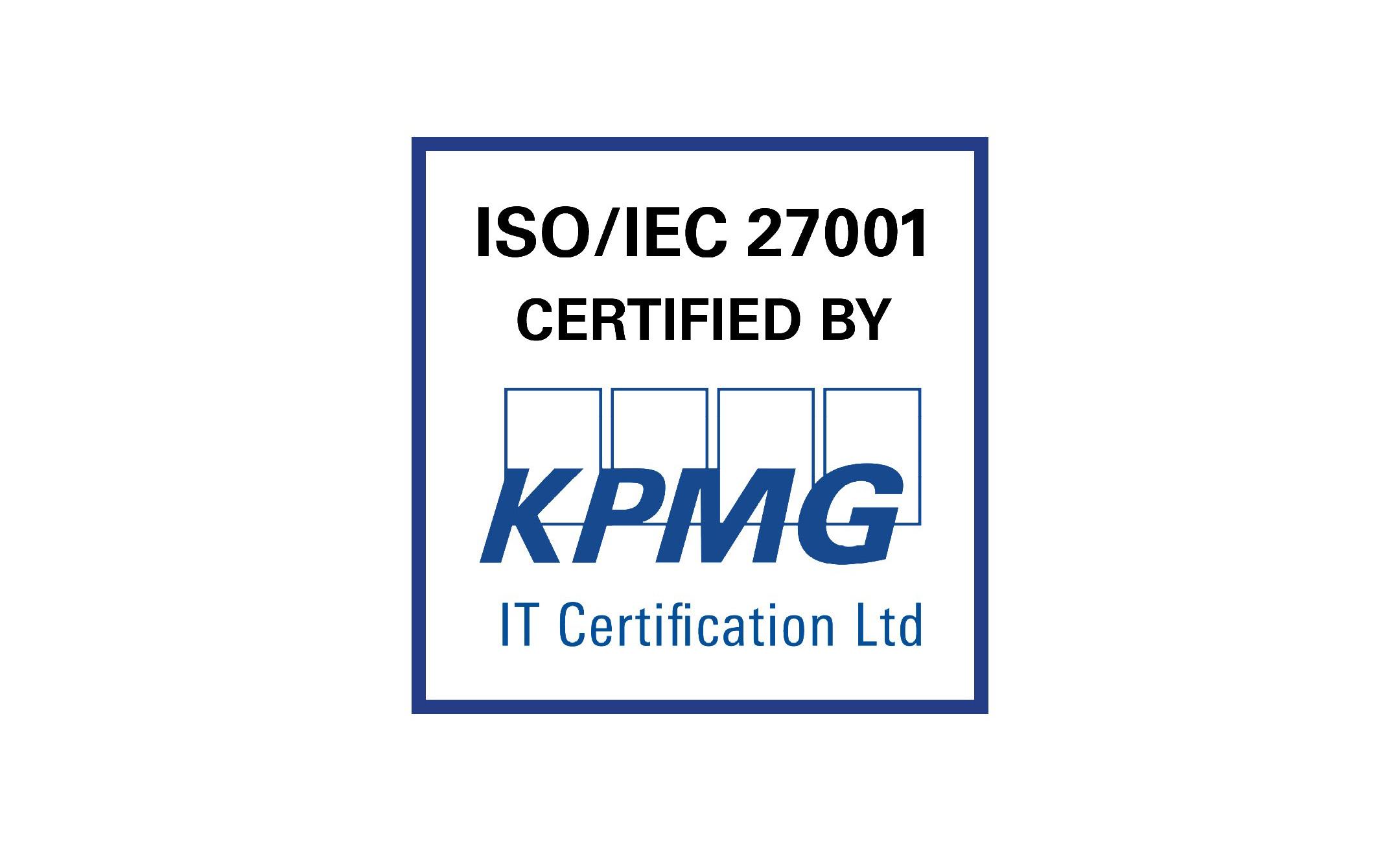 Viria Securitylle ISO/IEC 27001-sertifikaatti